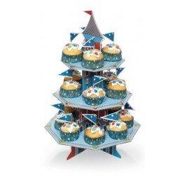 soporte cupcakes castillo