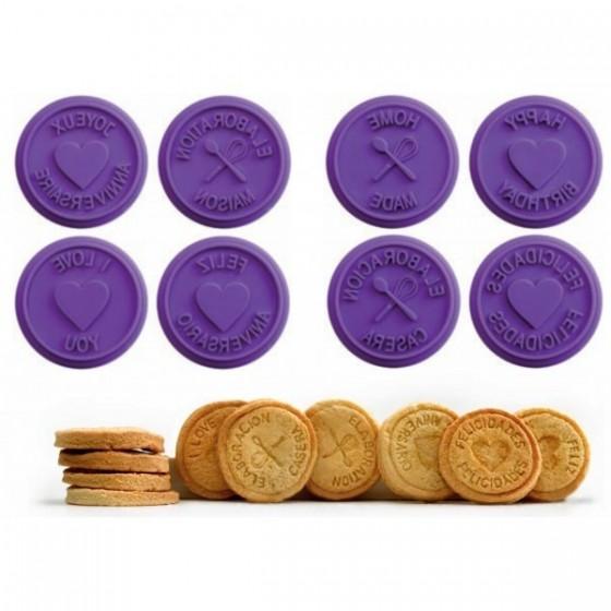set de ocho sellos para galletas