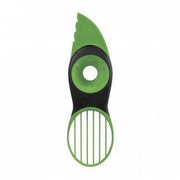 Pelador de aguacates verde