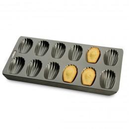 Molde multicavidad para 12 magdalenas concha