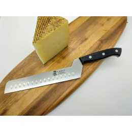Cuchillo queso o tarta alveolado y acodado 20cm