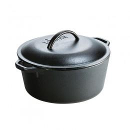 Cacerola de hierro con tapa Lodge 4.7 litros