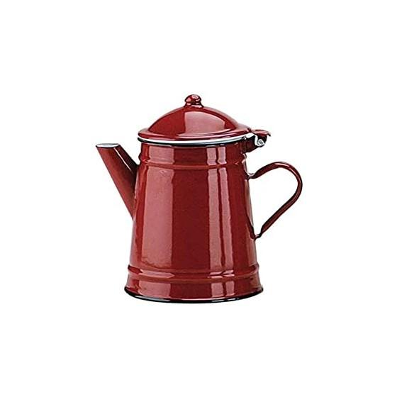 Cafetera esmaltada cónica roja 0,50 lts