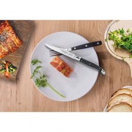 Cuchillo mesa chuletero mango negro tipo navaja 3Claveles