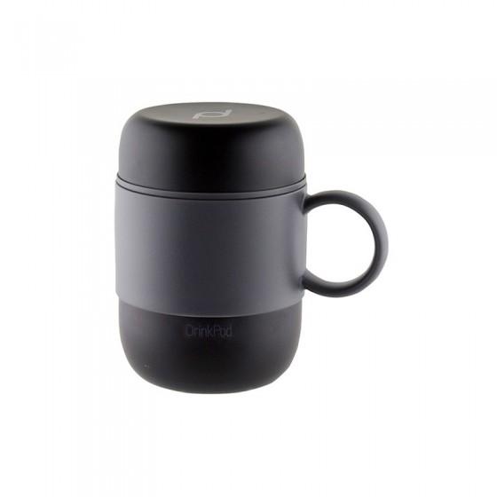 Vaso térmico con asa 0,28 L negro