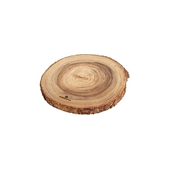Tronco madera acacia con corteza 32cm